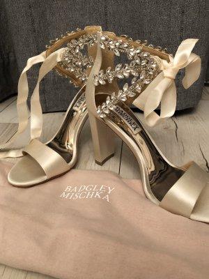 Badgley Mischka Comfort Sandals cream silk