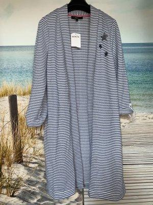Bonita Long Knitted Vest white-steel blue
