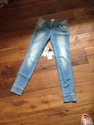 MET Jeans a sigaretta azzurro-oro