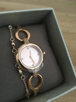 Nagelneue Esprit Armbanduhr in Roségold