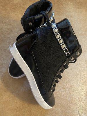 Guess Sneakers met hak zwart-zilver