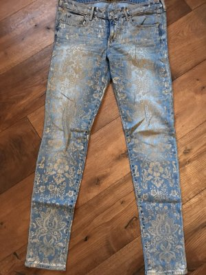 Abercrombie & Fitch Tube Jeans azure-gold-colored