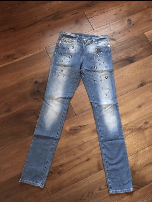Airfield Jeans cigarette bleu azur