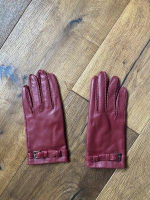 Esprit Leather Gloves carmine