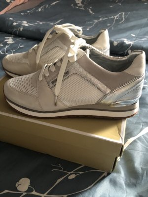 Michael Kors Sneaker stringata bianco-argento