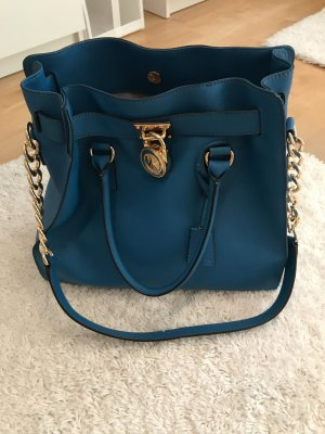 Michael Kors Handbag petrol-cadet blue leather