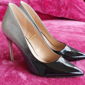 Atmosphere High Heels black-silver-colored