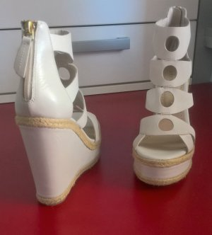 Bruno Premi Platform Sandals cream-natural white leather