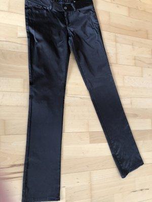 Zara Basic Pantalón de pinza alto marrón oscuro