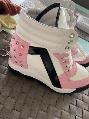 Sneakers met hak veelkleurig