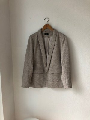 Only Boyfriend Blazer grey brown-oatmeal cotton