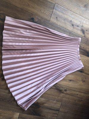 Hallhuber Donna Plisowana spódnica w kolorze różowego złota