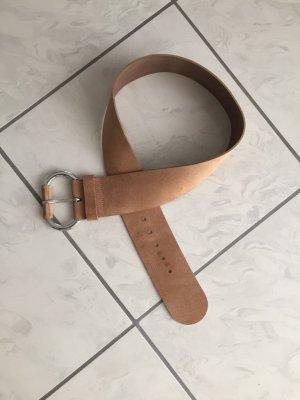 Benetton Cintura di pelle beige