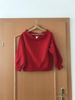 H&M Top bez ramiączek czerwony