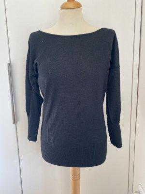 Designerstück Crewneck Sweater black-silver-colored
