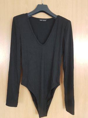 nagelneuer schwarzer Shirtbody von Shein, Gr. 36