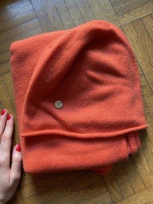 100% PURE CASHMERE Chapeau en fourrure orange-orange fluo