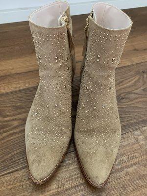 Zara Stivaletto con zip beige-oro