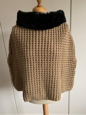 Bomboogie Veste en laine beige-noir