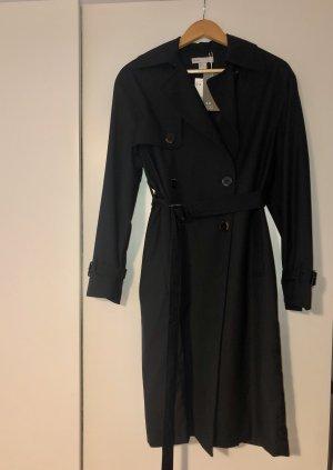 H&M Trenchcoat zwart Wol