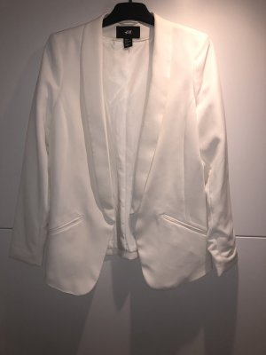 H&M Veste de smoking blanc cassé