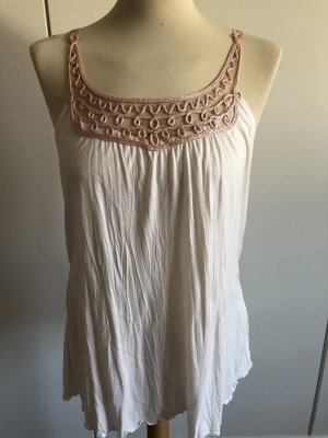 More & More Blouse topje wolwit-stoffig roze