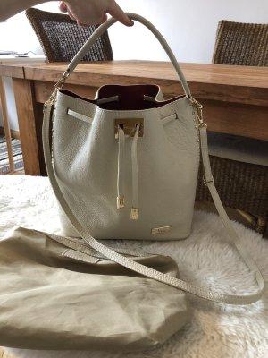 NAHBI Tasche Beutel Creme weiß neu Blogger + Innentasche Leder