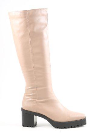 Nakd Absatz Stiefel creme Casual-Look