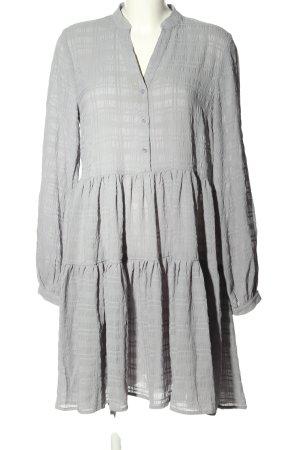 Nakd Robe Babydoll gris clair motif à carreaux style décontracté