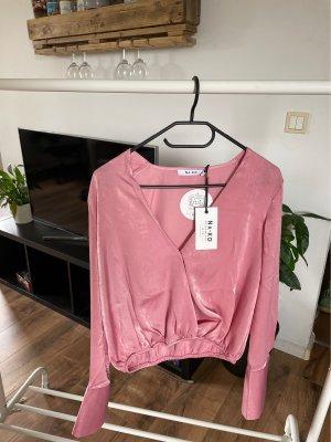 Nakd Glanzende blouse roze