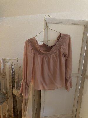 Nakd Carmen blouse roségoud