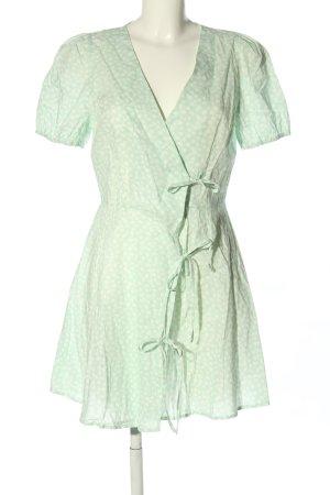 Nakd Blusenkleid grün abstraktes Muster Casual-Look