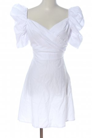 Nakd Vestido camisero blanco look casual