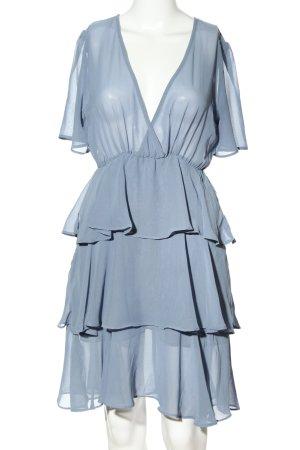 Nakd Vestido camisero azul elegante