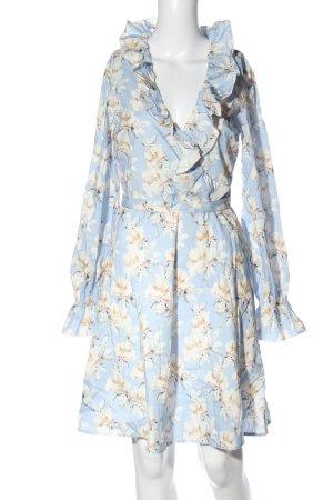 Nakd Vestido camisero azul-blanco estampado repetido sobre toda la superficie