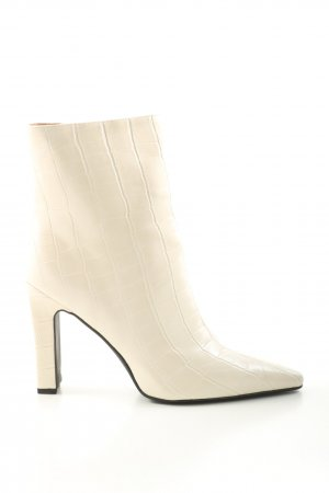 Nakd Booties creme Allover-Druck Business-Look