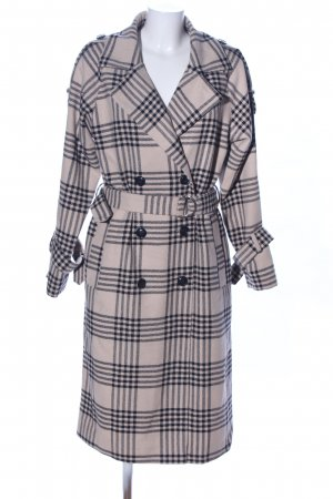 Nakd Heavy Pea Coat nude-black check pattern business style