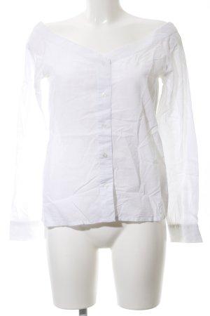 Nakd Carmen-Bluse weiß schlichter Stil