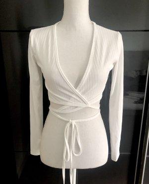 Nakd Cache-cœur en tricot blanc