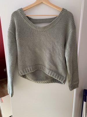 Nakd Coarse Knitted Sweater sage green