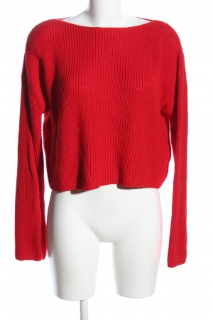Nakd Cropped Top red cable stitch casual look