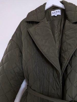 Nakd Gewatteerde jas donkergroen-khaki