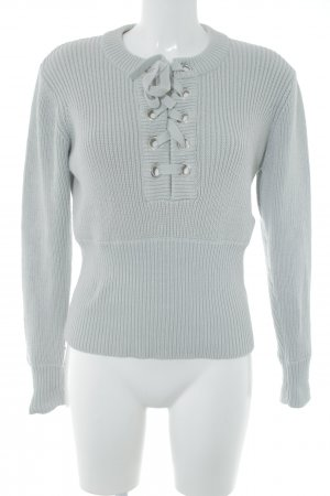 Nakd Coarse Knitted Sweater light grey casual look
