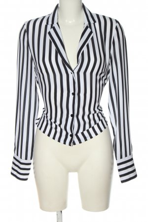 Nakd Hemd-Bluse weiß-schwarz Streifenmuster Elegant