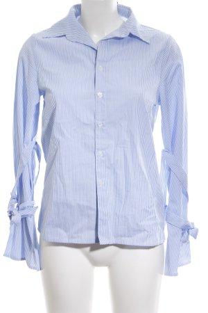 Nakd Hemd-Bluse stahlblau-weiß Streifenmuster Casual-Look