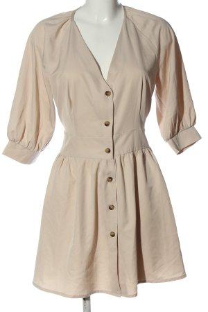 Nakd Koszulowa sukienka kremowy Elegancki