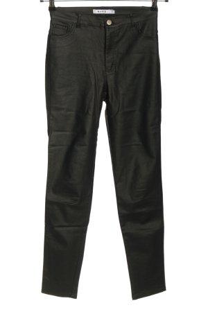 Nakd Spodnie z wysokim stanem czarny W stylu casual