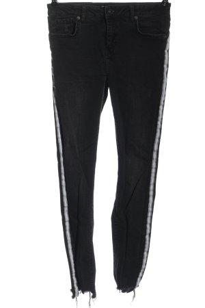 Nakd Jeans a vita alta nero motivo a righe stile casual