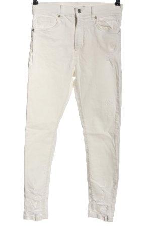 Nakd Jeans a vita alta bianco stile casual