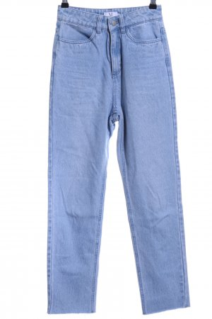 Nakd Hoge taille jeans lichtblauw Jeans-look